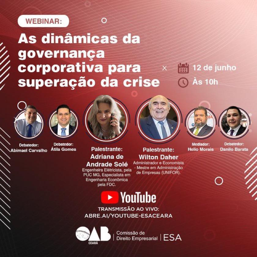 Webinar: As dinâmicas da Governança Corporativa para superação de crises