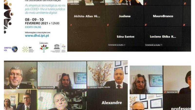 Participação no VII Congresso Luso Brasileiro de Direitos Humanos na Sociedade da Informação