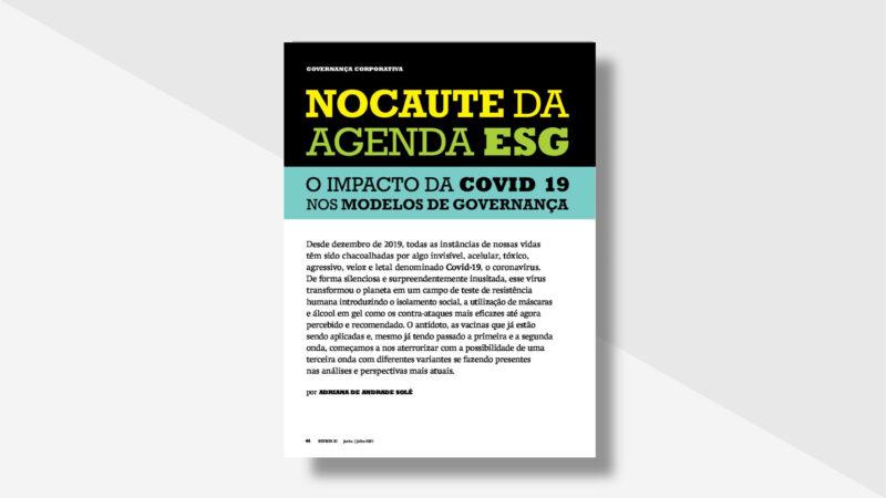 """Artigo: """"Nocaute da agenda ESG: o impacto da Covid-19 nos modelos de Governança"""""""
