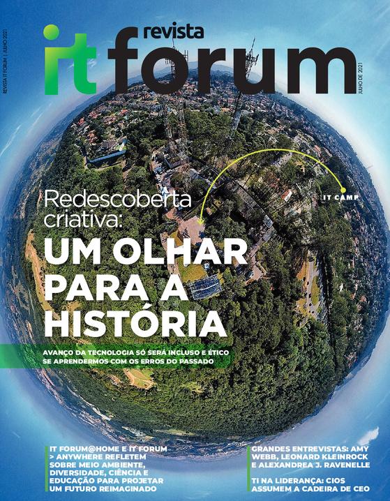 Reportagens na revista IT Forum: questão ambiental junto com Ailton Krenak e ESG