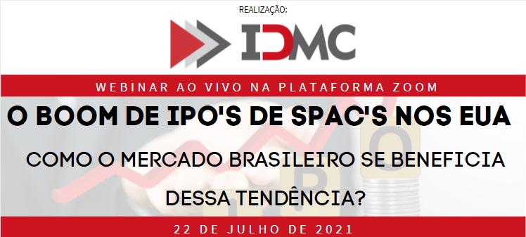 """Não perca a webinar: """"Boom de IPOs de SPACs nos EUA – Como o mercado brasileiro se beneficia dessa tendência?"""""""