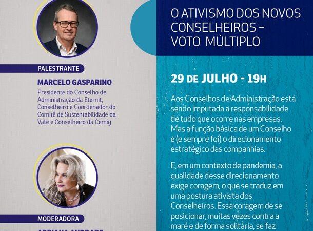 """Inscreva-se para a palestra """"O Ativismo dos Novos Conselheiros – Voto Múltiplo"""""""