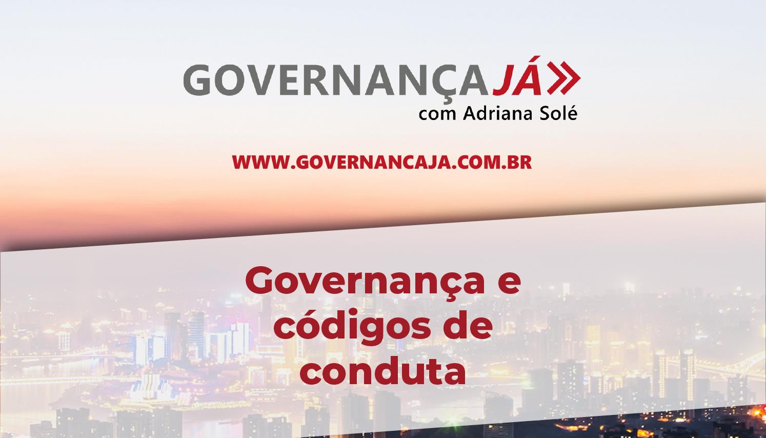 Governança e códigos de conduta