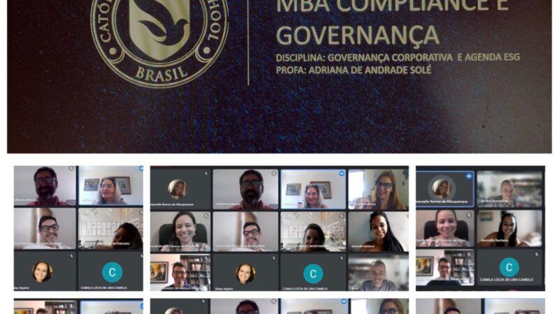 MBA Compliance e Governança da Católica Business School, de Pernambuco